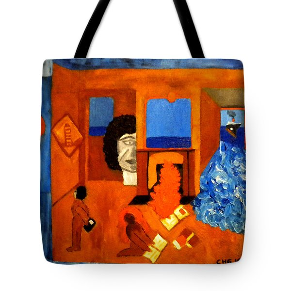 Trying To Find The Way Out Or Is It Better To Stay   Tote Bag by Colette V Hera  Guggenheim
