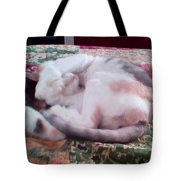 Trying To Nap Tote Bag