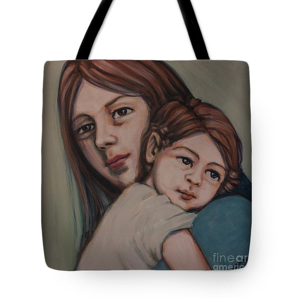 Tote Bag featuring the painting Trying To Remember by Olimpia - Hinamatsuri Barbu