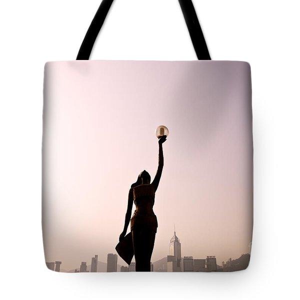 Tsim Sha Tsui K Tote Bag by Ray Laskowitz - Printscapes