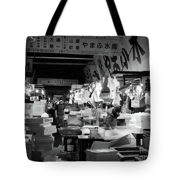 Tsukiji Shijo, Tokyo Fish Market, Japan 3 Tote Bag