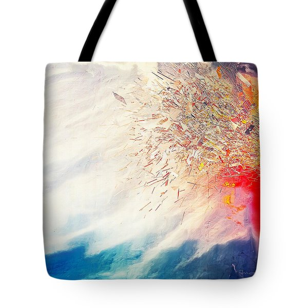 Tote Bag featuring the painting Tsunami by Mark Taylor