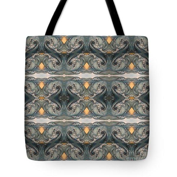 Tsunami Mirror Pattern Tote Bag