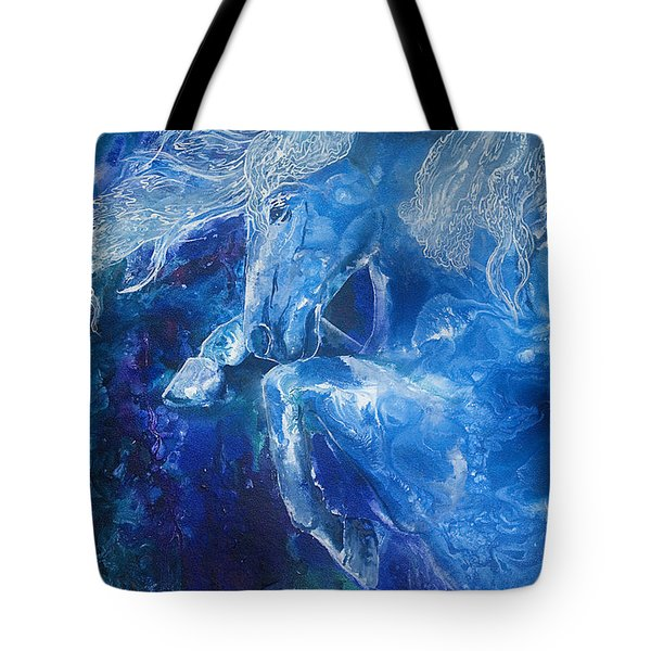 Tsunami Water Horse Tote Bag