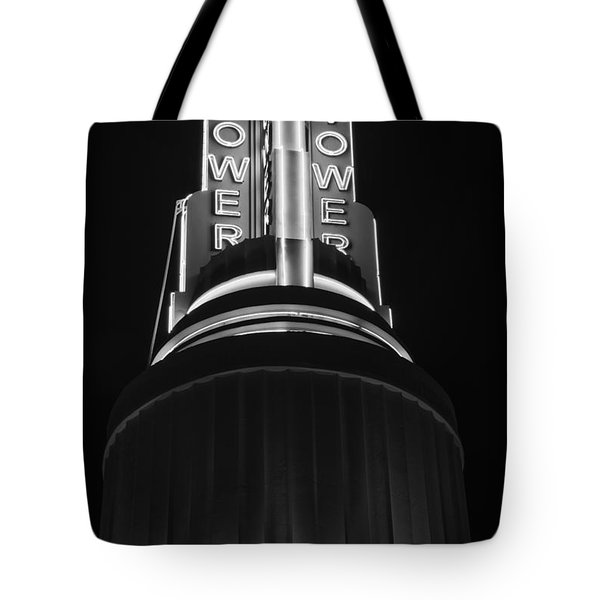 Ttower Theatre  Black And White Tote Bag