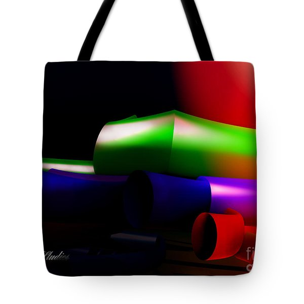 Tubbing In A Fractal Tote Bag