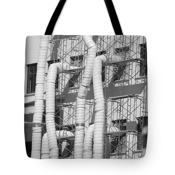 Tube Construction Tote Bag by Rob Hans
