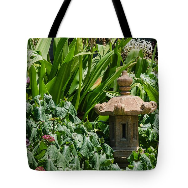 Tucked Among The Flowers Tote Bag