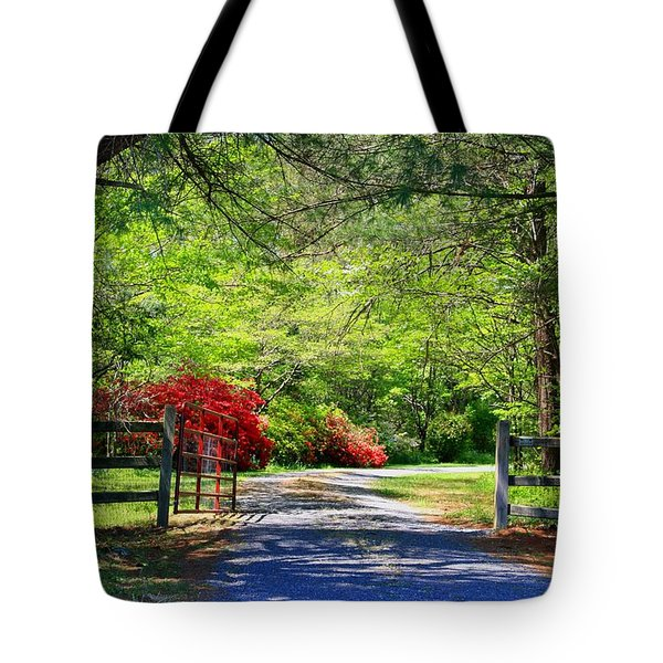 Tote Bag featuring the photograph Tucked Away by Kathryn Meyer