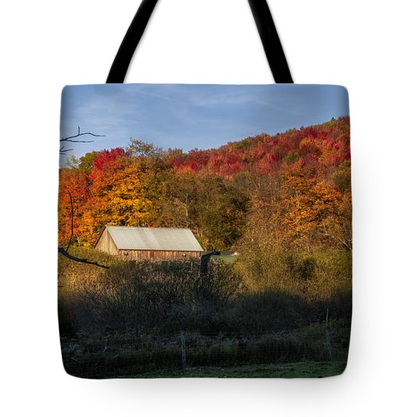 Tote Bag featuring the photograph Tucked Away by Mark Papke