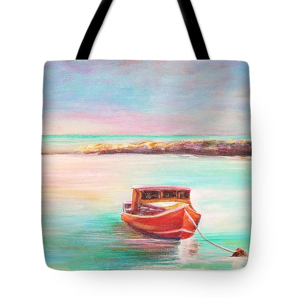 Tote Bag featuring the painting Tucked In by Patricia Piffath