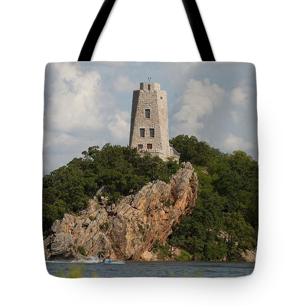 Tucker Tower In Summer Tote Bag