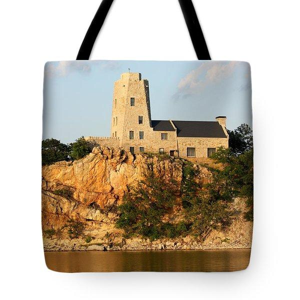 Tucker's Tower Lake Murray Oklahoma Tote Bag