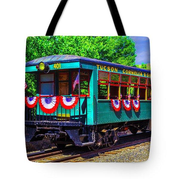Tucson Cornelia And Gila Bend R R Train Car Tote Bag