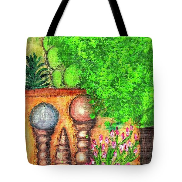 Tote Bag featuring the painting Tucson Garden by Kim Nelson