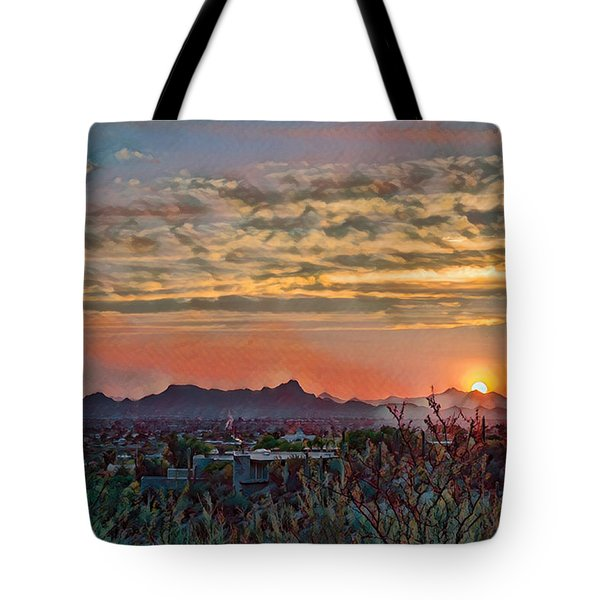 Tote Bag featuring the photograph Tucson Sunset Remix by Dan McManus