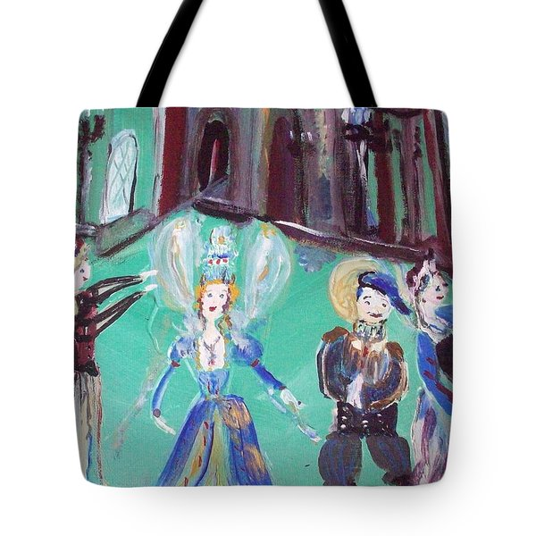 Tudor Fairies Tote Bag by Judith Desrosiers