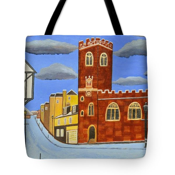 Tudor House In Exeter  Tote Bag