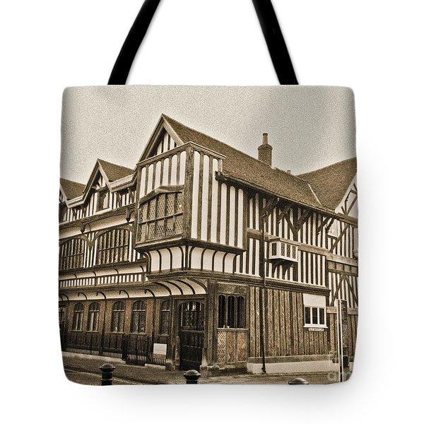 Tudor House Southampton Tote Bag by Terri Waters