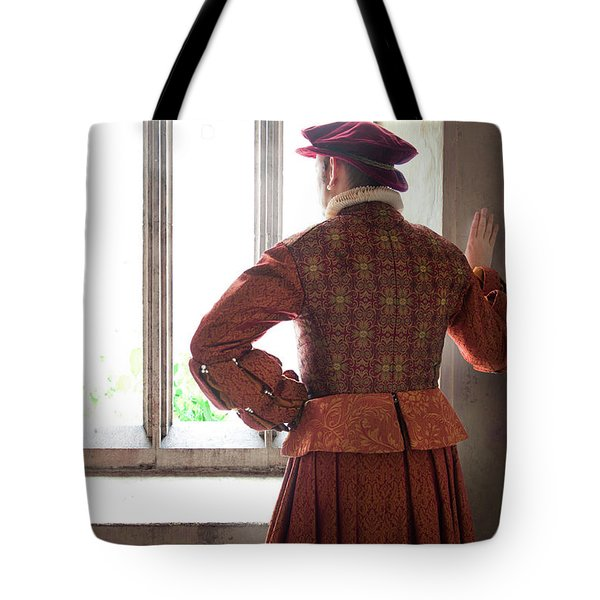 Tudor Man At The Window Tote Bag by Lee Avison