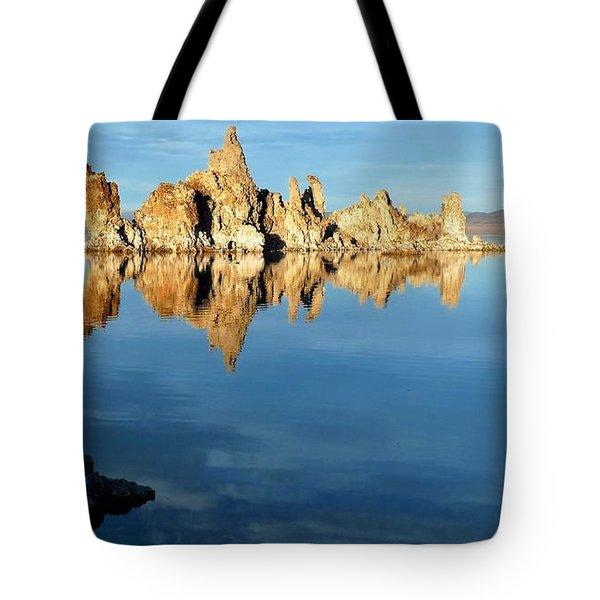 Tufa Reflection At Mono Lake Tote Bag
