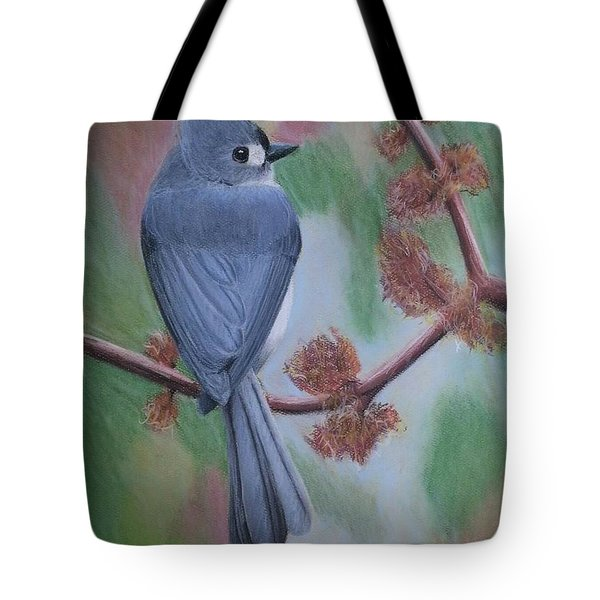 Tufted Ear Titmouse Tote Bag