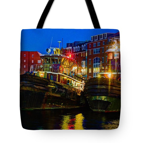 Tug Boat Alley 026 Tote Bag