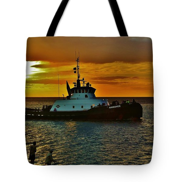 Tote Bag featuring the photograph Tug Namahoe by Craig Wood