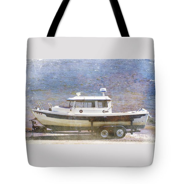 Tote Bag featuring the painting Tugboat by Cynthia Powell