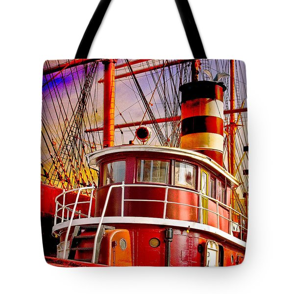 Tote Bag featuring the photograph Tugboat Helen Mcallister by Chris Lord