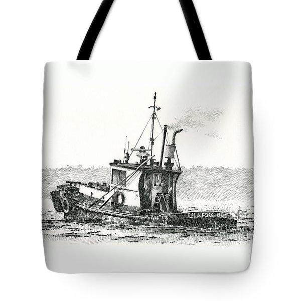 Tugboat Lela Foss Tote Bag by James Williamson
