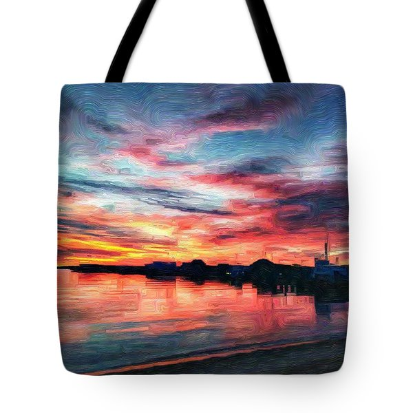 Tugboat Sirius At Sunrise Tote Bag
