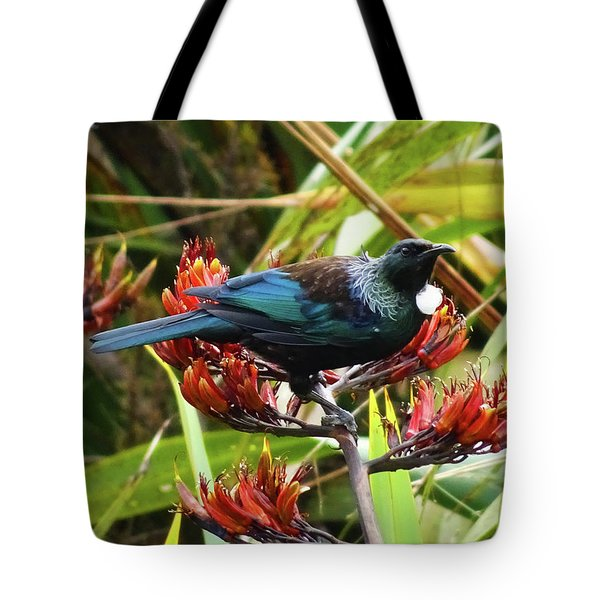 Tui In Flax Tote Bag by Angela DeFrias