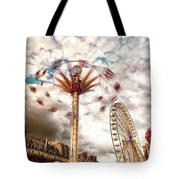 Tuilerie Garden Paris Swings Tote Bag