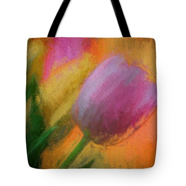 Tulip Abstraction Tote Bag