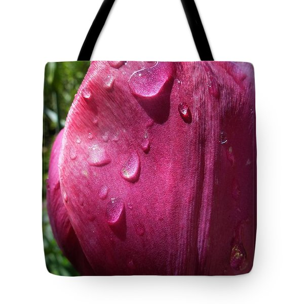 Tulip After The Rain Tote Bag by Jean Bernard Roussilhe
