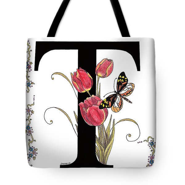 Tulip And Tiger Pierid Butterfly Tote Bag