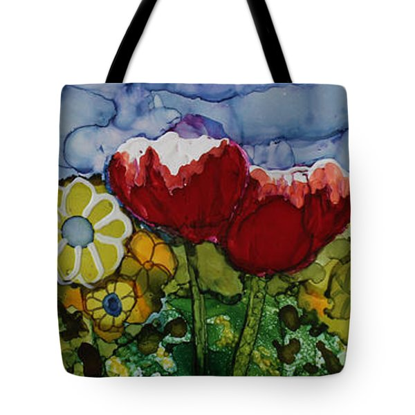 Tulip Bonanza Tote Bag by Suzanne Canner