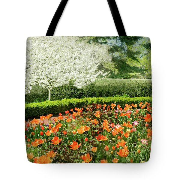 Tote Bag featuring the photograph Tulip Cafe by Diana Angstadt