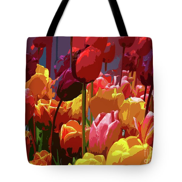 Tulip Confusion Tote Bag by Sharon Talson