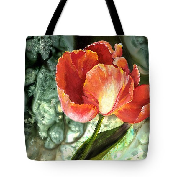 Tote Bag featuring the painting Tulip Dance by Sherry Shipley