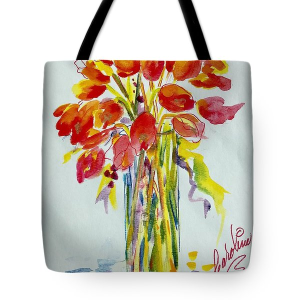 Tulip Fire Element Tote Bag