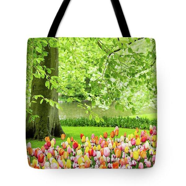 Tulip Garden - Amsterdam Tote Bag