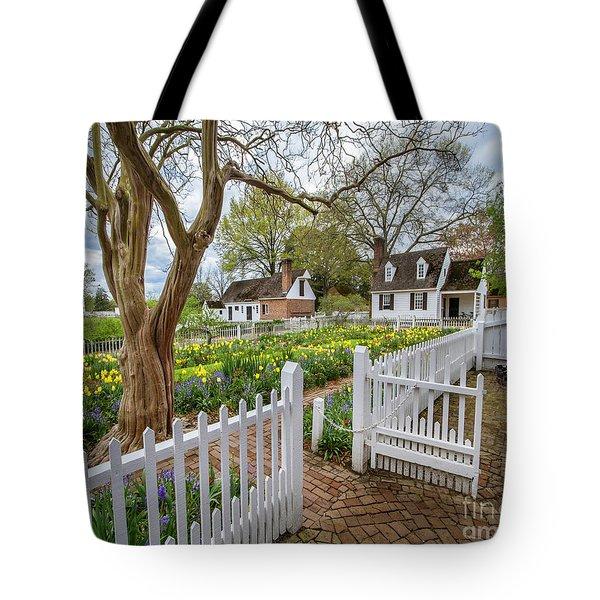 Tulip Garden Colonial Williamsburg  Tote Bag