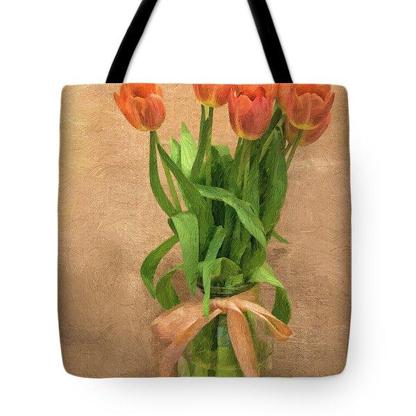 Tulip Impasto Tote Bag