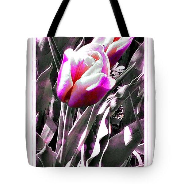 Tulip In Magenta Tote Bag