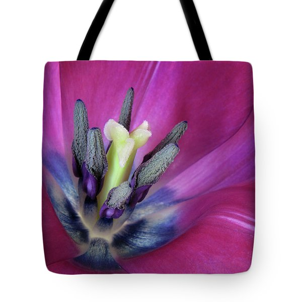Tote Bag featuring the photograph Tulip Intimacy by David and Carol Kelly