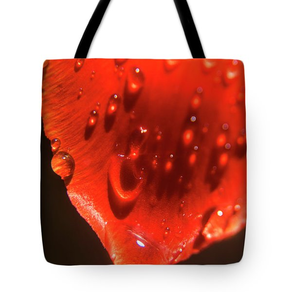 Tulip Petals After A Rain-2197 Tote Bag