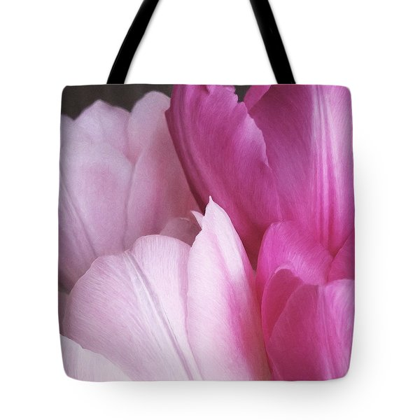 Tote Bag featuring the digital art Tulip Petals by Julian Perry
