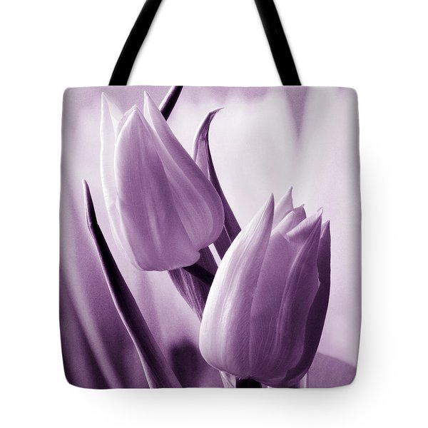 Tulip Purple Tint. Tote Bag by Terence Davis
